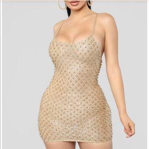 Windsor new gold beaded dress